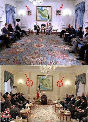 حذف تصاویر امام و رهبری